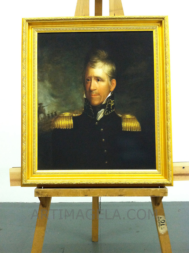 Andrew Jackson (1767-1845). 7th US President. Ca. 1817<br /> This is a Digital Reproduction Rental in LA, CA: Framed Size 36 1/2&quot; x 32&quot; Stretcher/Image Size 30&quot; x 25 1/2&quot;  <br /> <br /> Original Art Information:  Andrew Jackson (1767-1845).  Ralph Eleaser Whiteside Earl's (1788-1838) Oil on canvas, 76.2cm x 64.8cm (30&quot; x 25 1/2&quot;).