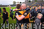 William Kirby and Kieran Donaghy Austin Stacks players celebrate winning the Kerry Senior County Football Final at Fitzgerald Stadium on Sunday.