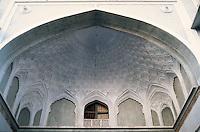 The ornate ceiling of the Azam Khan's caravanaseri. Ahmedabad, India.