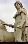 Castor Cordonata Dioscuri detail Campidoglio Capitoline Hill Rome