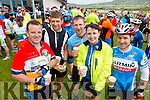 Thomas Fitzpatrick, John O'Sullivan, Jason Kelly, Norita Kelly and Noel O'Keeffe Ballydesmond at the Ring of Kerry cycle on Saturday.