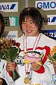 Sayaka Akase, .FEBRUARY 11, 2012 - Swimming : .The 53rd Japan Swimming Championships (25m) .Women's 200m Backstroke Victory Ceremony .at Tatsumi International Swimming Pool, Tokyo, Japan. .(Photo by YUTAKA/AFLO SPORT) [1040]