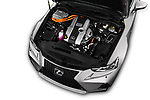Car Stock 2017 Lexus IS F-Sport-Line 4 Door Sedan Engine  high angle detail view
