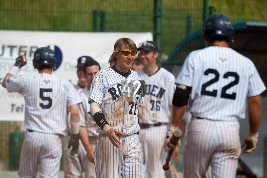 23 May 2009: Luc Piquet of Rouen is seen during the 2009 challenge de France, a tournament with the best French baseball teams - all eight elite league clubs - to determine a spot in the European Cup next year, at Montpellier, France. Rouen wins 6-2 over La Guerche.