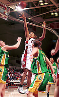 STANFORD, CA - JANUARY 15: Enjoli Izidor of the Stanford Cardinal during Stanford's 78-62 win over the Oregon Ducks on January 15, 2000 at Maples Pavilion in Stanford, California.