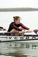 REDWOOD SHORES, CA - JANUARY 2002:  Ashley Maloney of the Stanford Cardinal during practice in January 2002 in Redwood Shores, California.