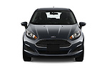 Car photography straight front view of a 2019 Ford Fiesta SE 5 Door Hatchback