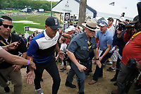 Brooks Koepka (USA) making his way to the 18th during the final round at the PGA Championship 2019, Beth Page Black, New York, USA. 19/05/2019.<br /> Picture Fran Caffrey / Golffile.ie<br /> <br /> All photo usage must carry mandatory copyright credit (© Golffile | Fran Caffrey)