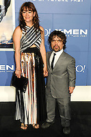 "NEW YORK CITY, NY, USA - MAY 10: Erica Schmidt, Peter Dinklage at the World Premiere Of Twentieth Century Fox's ""X-Men: Days Of Future Past"" held at the Jacob Javits Center on May 10, 2014 in New York City, New York, United States. (Photo by Celebrity Monitor)"