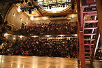 """Student audience before The Rockefeller Foundation and The Gilder Lehrman Institute of American History sponsored High School student #EduHam matinee performance of """"Hamilton"""" at the Richard Rodgers Theatre on October 25, 2017 in New York City."""