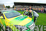 Mark Griffin, Pat Ahern and Darran O'Sullivan at Kerry GAA family day at Fitzgerald Stadium on Saturday.