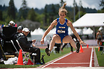EUGENE, OR - JUNE 10: Tori Usgaard of the University of California Santa Barbara competes in the long jump as part of the Heptathlon during the Division I Women's Outdoor Track & Field Championship held at Hayward Field on June 10, 2017 in Eugene, Oregon. (Photo by Jamie Schwaberow/NCAA Photos via Getty Images)