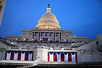 The Capitol Building is decorated in preparation for the inauguration of Barack Obama as 44th President of the United States of America, Jan. 17, 2009, in Washington, D.C. (Marisa McGrody/pressphotointl.com)