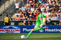 Goalkeeper Milos Kocic (30) of Toronto FC. The Philadelphia Union defeated Toronto FC 3-0 during a Major League Soccer (MLS) match at PPL Park in Chester, PA, on July 8, 2012.