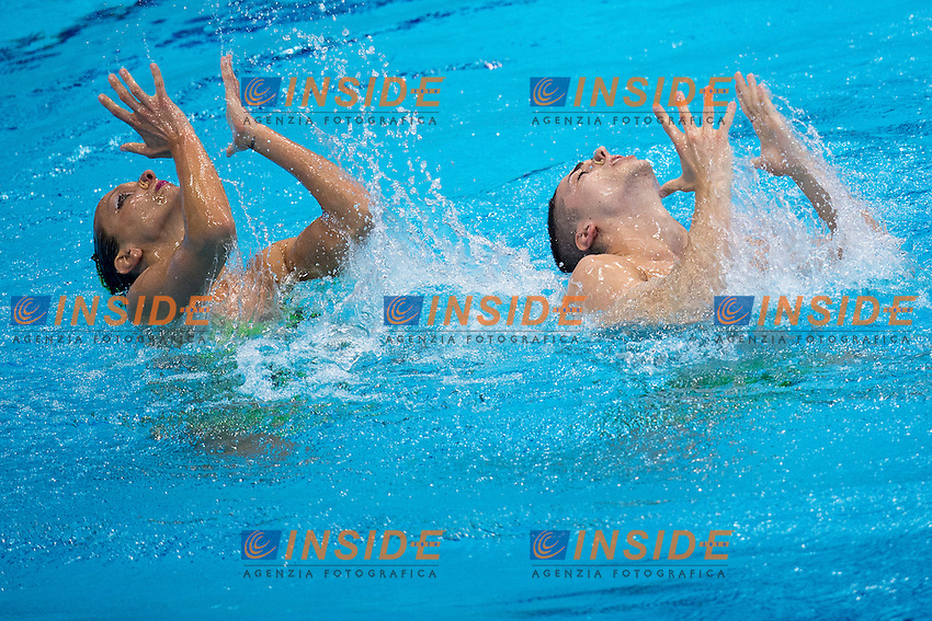 Giorgio MINISINI Mariangela PERRUPATO ITA ITALY<br /> Silver Medal <br /> Mixed Duet Free Final <br /> London, Queen Elizabeth II Olympic Park Pool <br /> LEN 2016 European Aquatics Elite Championships <br /> Synchronized Swimming <br /> Day 03 11-05-2016<br /> Photo Andrea Staccioli/Deepbluemedia/Insidefoto