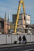 Demolition of Durham Court blocks in Phase 2b of Brent Council's South Kilburn Estate regeneration scheme.