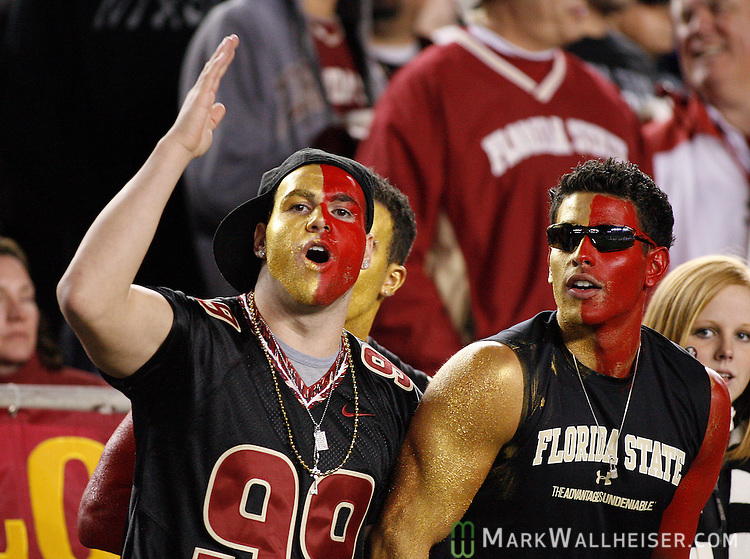 Seminole fans do the Chop in the 2nd half of Florida State's NCAA football game against  Boston College at Bobby Bowden field on the Florida State University campus in Tallahassee, Florida November 15, 2008.  (Mark Wallheiser/TallahasseeStock.com)
