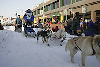 March 3, 2007  Scott Smith during the Iditarod ceremonial start day in Anchorage
