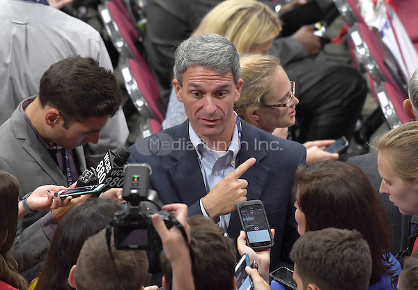 Former Attorney General Ken Cuccinelli (Republican of Virginia) is interviewed on the floor at the 2016 Republican National Convention held at the Quicken Loans Arena in Cleveland, Ohio on Monday, July 18, 2016.<br /> Credit: Ron Sachs / CNP/MediaPunch<br /> (RESTRICTION: NO New York or New Jersey Newspapers or newspapers within a 75 mile radius of New York City)