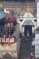 Pashupatinath, Kathmandu, Nepal.  One of the Entrances into Nepal's Holiest Hindu Temple, Pashupatinath.