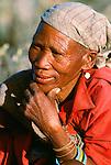San Bushmen tribesman, Botswana