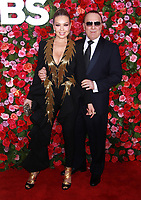 NEW YORK, NY - JUNE 10: Thalia and Tommy Mottolla at the 72nd Annual Tony Awards at Radio City Music Hall in New York City on June 10, 2018. <br /> CAP/MPI99<br /> &copy;MPI99/Capital Pictures