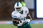 Tulane Green Wave running back Rob Kelley (28) in action during the game between the Tulane Green Wave and the SMU Mustangs at the Gerald J. Ford Stadium in Dallas, Texas.