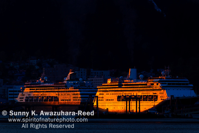 Sunset, Cruiseship Terminal, Juneau, Alaska