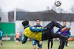 19.02.2019, Trainingsgelaende am Weserstadion, Bremen, GER, 1.FBL, Training SV Werder Bremen<br /> <br /> im Bild<br /> Fin Bartels (Werder Bremen #22) mit Fallrückzieher, <br /> <br /> Foto © nordphoto / Ewert