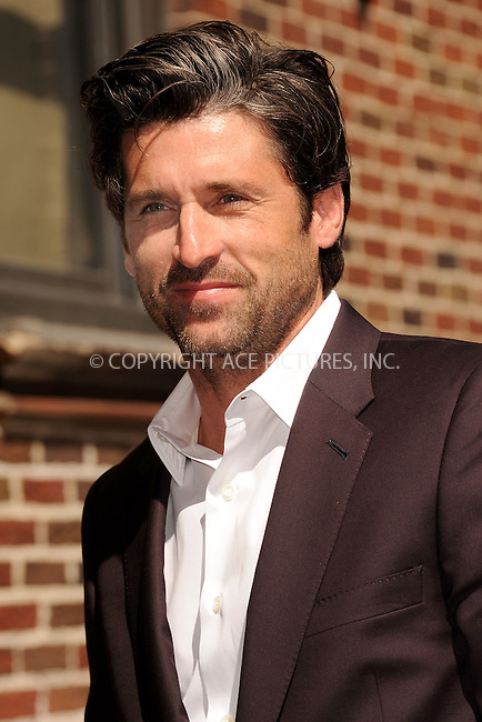 WWW.ACEPIXS.COM . . . . . .June 29, 2011...New York City...Patrick Dempsey arrives tape the Late Show with David Letterman on June 29, 2011 in New York City....Please byline: KRISTIN CALLAHAN - ACEPIXS.COM.. . . . . . ..Ace Pictures, Inc: ..tel: (212) 243 8787 or (646) 769 0430..e-mail: info@acepixs.com..web: http://www.acepixs.com .