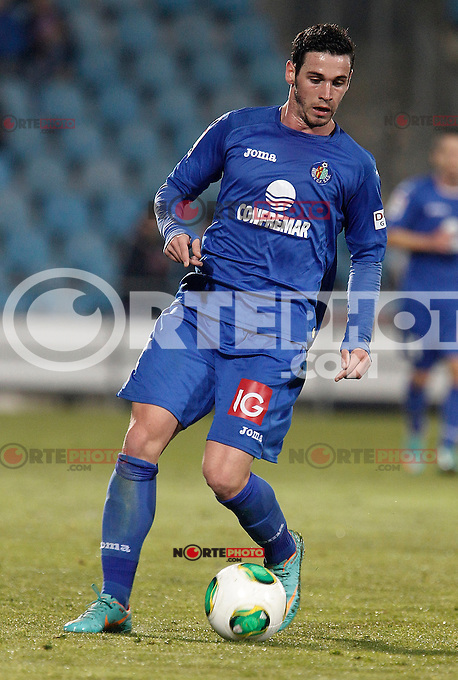 Getafe's Alvaro Vazquez during king's Cup match. January 10, 2013. (ALTERPHOTOS/Alvaro Hernandez) /NortePhoto
