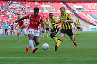 Devante Rodney of Salford City crosses the ball during AFC Fylde vs Salford City, Vanarama National League Play-Off Final Football at Wembley Stadium on 11th May 2019