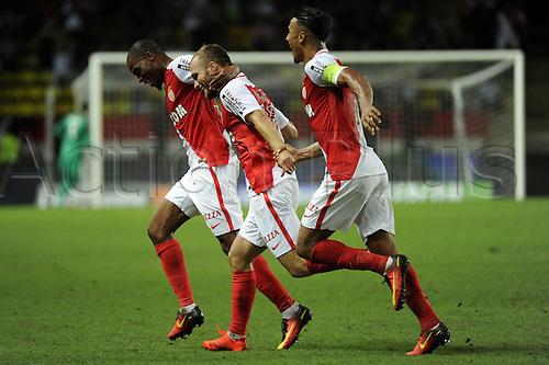 03.08.2016. Monaco, France. UEFA Champions league qualifying round, AS Monaco versus Fenerbahce.   Germain (mon) celebrates his second goal