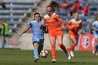 Bridgeview, IL - Saturday May 06, 2017: Vanessa DiBernardo, Janine Beckie during a regular season National Women's Soccer League (NWSL) match between the Chicago Red Stars and the Houston Dash at Toyota Park. The Red Stars won 2-0.