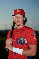 Williamsport Crosscutters Alec Bohm (5) poses for a photo before a game against the Mahoning Valley Scrappers on August 28, 2018 at BB&T Ballpark in Williamsport, Pennsylvania.  Williamsport defeated Mahoning Valley 8-0.  (Mike Janes/Four Seam Images)