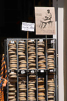 Selling espadrilles shoes. Banyuls sur Mer, Roussillon, France