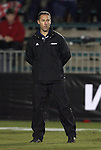 11 December 2009: Akron head coach Caleb Porter. The University of Akron Zips defeated the University of North Carolina Tar Heels 5-4 on penalty kicks after the game ended in a 0-0 overtime tie at WakeMed Soccer Stadium in Cary, North Carolina in an NCAA Division I Men's College Cup Semifinal game.