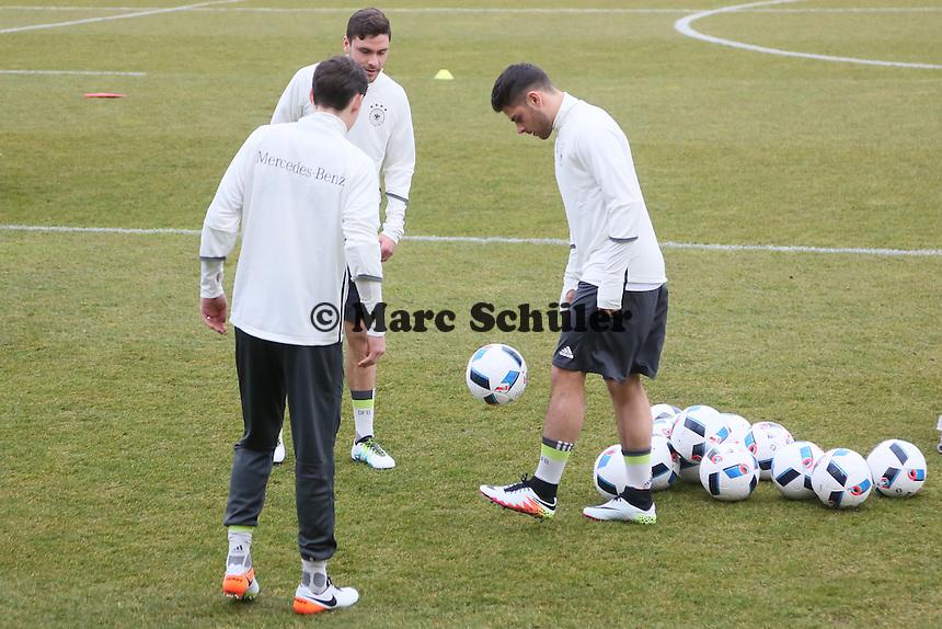 Kevin Volland, Jonas Hector - Training der Deutschen Nationalmannschaft, Wurfplatz Berlin