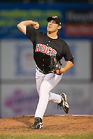Matt Davis (38) of the Winston-Salem Warthogs in action at Ernie Shore Field in Winston-Salem, NC, Saturday August 9, 2008. (Photo by Brian Westerholt / Four Seam Images)