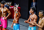 Winners of the Men's Sport Physique 170cm or above (Group B) category during the 2016 Hong Kong Bodybuilding Championships on 12 June 2016 at Queen Elizabeth Stadium, Hong Kong, China. Photo by Lucas Schifres / Power Sport Images