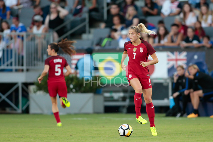 Carson, CA - Thursday August 03, 2017: Abby Dahlkemper during a 2017 Tournament of Nations match between the women's national teams of the United States (USA) and Japan (JPN) at the StubHub Center.