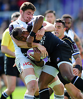 Semesa Rokoduguni of Bath Rugby takes on the Brive defence. European Rugby Challenge Cup Quarter Final, between Bath Rugby and CA Brive on April 1, 2017 at the Recreation Ground in Bath, England. Photo by: Patrick Khachfe / Onside Images