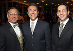 Dr. Edgar Colon, Norberto Saul-Terrazas Arreola and Julian Escutia at the Hispanic Chamber of Commerce's annual Triunfando Awards Show and Dinner at the Hobby Center Saturday Nov. 14,2009. (Dave Rossman/For the Chronicle)