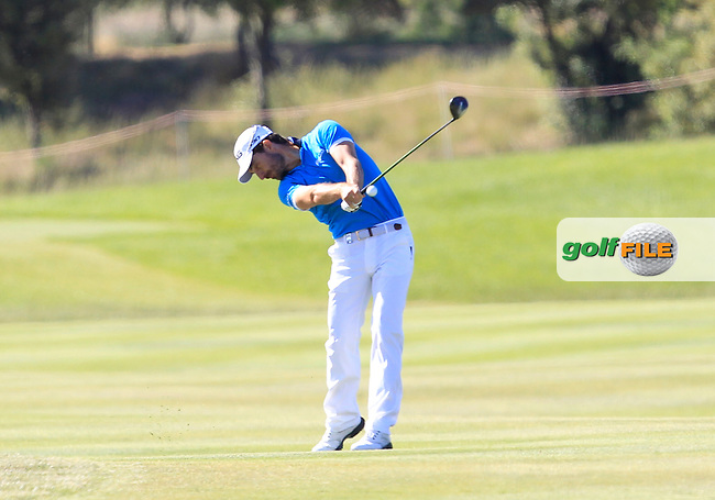 Alejandro Canizares (ESP) on the 2nd fairway during Round 4 of the Open de Espana  in Club de Golf el Prat, Barcelona on Sunday 17th May 2015.<br /> Picture:  Thos Caffrey / www.golffile.ie