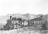 3/4 view of K-27 #452 near Dallas Divide hauling a northbound stock train.  Close to MP 11.7.<br /> D&amp;RGW on RGS  Dallas Divide (Peake), CO  Taken by Kindig, Richard H. - 9/5/1951