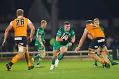 4th November 2017, Galway Sportsground, Galway, Ireland; Guinness Pro14 rugby, Connacht versus Cheetahs; Denis Coulson  (Connacht) looks gor a way past Carl Wegner (Toyota Cheetahs)
