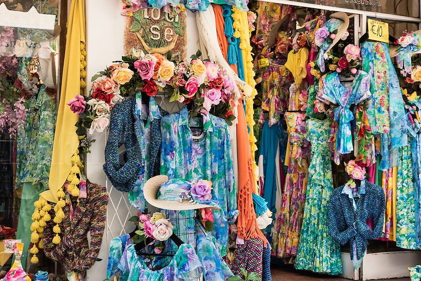 Chraming dress shop in Positano, Italy