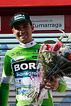 Max Schachmann (GER) Bora-Hansgrohe takes over the points the Green Jersey at the end of Stage 5 of the Tour of the Basque Country 2019 running 149.8km from Arrigorriaga to Arrate, Spain. 12th April 2019.<br /> Picture: Colin Flockton | Cyclefile<br /> <br /> <br /> All photos usage must carry mandatory copyright credit (© Cyclefile | Colin Flockton)