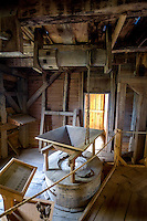 """Villines Mill, also known as Boxley Mill or Whiteley Mill, was originally built circa 1840 by Abner Casey in the Buffalo River valley, in what is now Buffalo National River. After becoming known as Whiteley Mill, the mill was at the center of a Civil War skirmish known as the """"Battle of Whiteley's Mill. The mill was rebuilt in 1870 and replaced with a larger mill, becoming known as Villines Mill after the new owner. After three generations of Villines, the mill closed in the 1960s.[2] The mill is included in the Big Buffalo Valley Historic District."""