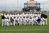 June 17th 2008:  The West Team poses for a photo before the Midwest League All-Star Game at Dow Diamond in Midland, MI.  Photo by:  Mike Janes/Four Seam Images
